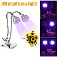 2 Head LED Hydroponic Plant Grow Light Bulb Lamp Lighting Panel Board Growth NEW