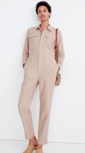 Madewell Womens Garment-Dyed Zip Front Coverall Jumpsuit top Al288 $148 #2