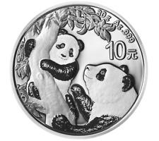 China 30 Grammi Panda 2021 Fine Silver - Oncia Cina