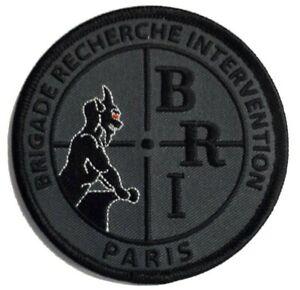 Nouveau authentique écusson brodé  collection Police - Gendarmerie BRI PARIS.