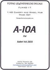 Flying Leathernecks Decals 1/48 A-10A WARTHOG CANOPY & WHEEL MASK SET Italeri