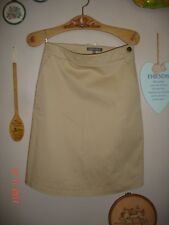 LAURA ASHLEY Skirt Size 8 Day Casual Pencil Beige Cream Cotton with stretch