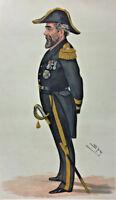 1883 Antique VANITY FAIR SPY Print of Admiral Sir Anthony Hoskins