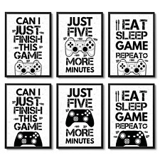 Gaming Prints Games Room Boys Bedroom Decor Gamer Gifts Wall Art Gaming Poster