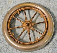 RARE Early Glass Metal Tire Advertising Ashtray LOOK