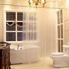 2X Waterproof Thicken Clear 3D Water Cube EVA Bathroom Shower Curtain 180*200CM