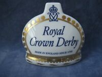 Royal Crown Derby Rare Prototype China Advert Display Shop Dealer Point of Sale
