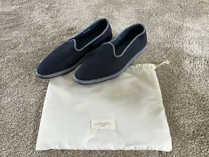 Max Mara Weekend Shoes. Blue Denim Fabric Loafers / Slip On. Size 40. New