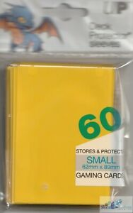 60 ULTRA PRO YUGIOH size Yellow DECK PROTECTOR CARD SLEEVES