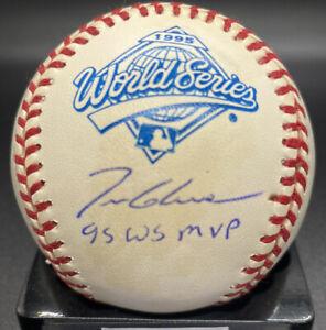 """1995 World Series HOF Tom Glavine """"WS MVP"""" Braves MLB PSA/DNA cert (Stains)"""