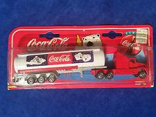 1997 Coca Cola Majorette Die Cast 1:87 Tanker Semi Polar Bear - COKE