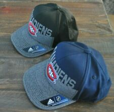 2 MONTREAL CANADIENS ADIDAS SNAP BACK NHL HATS ''BRAND NEW WITH TAGS''