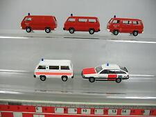 AF359-0,5# 5x Rietze H0 Modèle Mitsubishi L 300 FW+Ambulance, Audi 200, NEUF