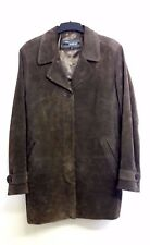 Gorgeous Brown Suede Fully Lined Button Front Jacket from WS Leather - Size 16