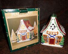 Pfaltzgraff Nordic Ceramic Sculpted Ski Chalet House Tea Light Candle Holder