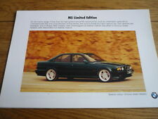 Rare BMW M5 ( E 34 ) LIMITED EDITION ORINOCO GREEN CAR BROCHURE jm