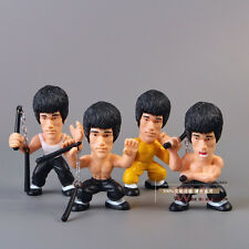 Bruce Lee The King Of Chinese Kung Fu Cute Action Figures Set 4pc AU