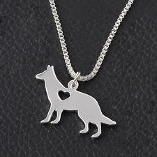 Silber Hunde Anhänger Halsketten schöne Schäferhund Unisex Stil Halskette IMAX