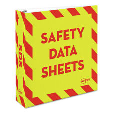 Avery 18951 Hd 11 In X 85 In 2 In Cap Safety Data Sheet Binder Ylwr New