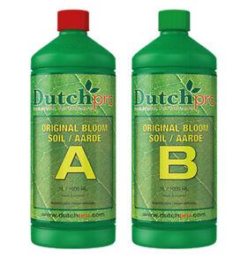 Dutch Pro Original Soil Bloom Feed Growth Nutrients Exuberant Bloom 1L A&B SET
