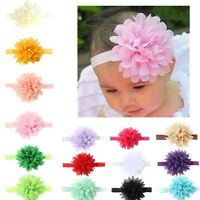 10Pcs Newborn Girls Baby Toddler Chiffon Flower Kids Hair band Headband Headwear