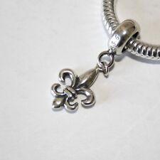 Fleur de Lys/Lis-Scouts-Lily Flor sólido de plata esterlina 925 encanto grano/Colgante