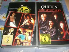QUEEN - We will rock you & Greatest Flix I - 2 VHS Raritäten
