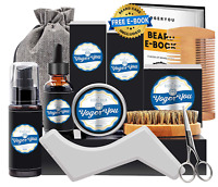 Beard Grooming Kit Men Mustache Comb Taming Style Growth Oil Facial Care Supplie