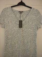 Laura Ashley Green & Ivory Bird Flower Jersey Top. UK 14 EUR 40-42 US 10.