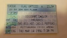 RARE RED HOT CHILI PEPPERS RHCP ticket stub @ CIVIC ARENA Pittsburgh PA 1996