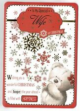 Wife Christmas Card 'To My Special Wife'
