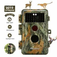16MP 1080P Game & Trail Hunting Camera No Glow Night Vision Waterproof Deer Cam