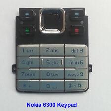 100% Genuine Original Nokia 6300 Keypad Fascia Housing - Silver