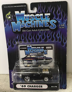 Muscle Machines 1:64 Funline  '69 Charger 2000 01-76 Item #71161 Black NEW Dodge