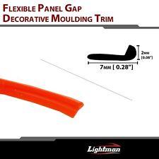 10ft Gap Trim Strip Garnish Molding Orange Car Interior Body Door Edge Decorate
