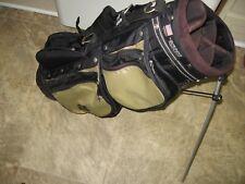 Izzo Club Glove Collegiate Stand Bag- Light weight- Black Gold + Harness Strap