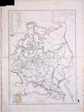 Carte de la RUSSIE D'EUROPE et de la POLOGNE, L. Dussieux 1846. 33.5 x 44 cm.