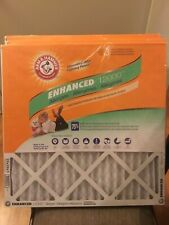 (3) Arm & Hammer Enhanced 12000 Air Filters 20x20x1 Odor Reduction Free Shipping
