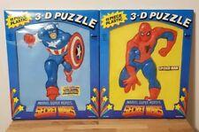 Vintage 1985 Marvel Secret Wars 3D Puzzles   Spider-Man & Captain America ILLCO
