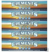 ELEMENTS KING SIZE SLIM ROLLING PAPERS RICE PAPER (5 PACKS)