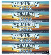 ELEMENTS KING SIZE SLIM ROLLING RICE PAPERS (5 PACKS)