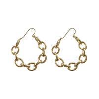 Earrings Creole Ring Golden Link Metal Original DD11