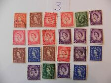 LOT OF 22 CANCELED POSTAGE REVENUE STAMPS ( 1/2D TO 3D )