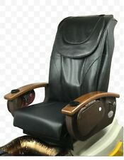 Pedicure Back Massage Seat Cover with Front Chin Black Color