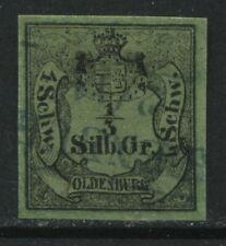 Oldenburg 1852 1/3 sg used SUPERB