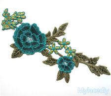 Lace Embroidered Venise Floral Neckline Collar Trim Clothes Applique Sew Patches