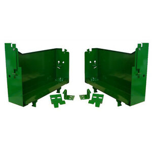 AR26617 Right & AR26618 Left Side Battery Boxes Fits John Deere Tractors