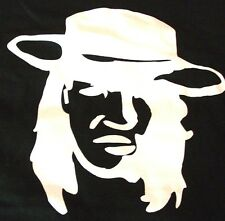 VINTAGE STEVIE RAY VAUGHN 3XL THICK COTTON BLACK T-SHIRT WILL NOT FADE! L@@K WOW