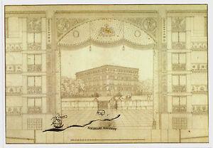 Kunstpostkarte  -  Karl Friedrich Schinkel: Stadttheater Hamburg