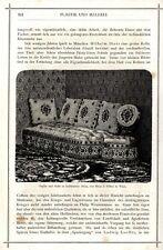 Sofa u. Stuhl aus Atlas von Ph.Haas & Söhne Wien Holzschnitt-Vignette von 1873